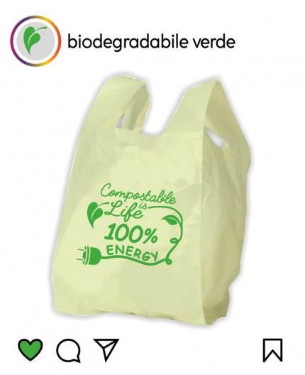 Sacchetti Biodegradabili Compostabili Verdi