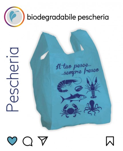 Sacchetti Biodegradabili Compostabili per Pescheria 500pz