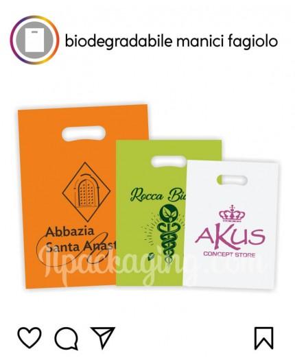 Sacchetti Biodegradabili Personalizzati Manici Fagiolo 100kg
