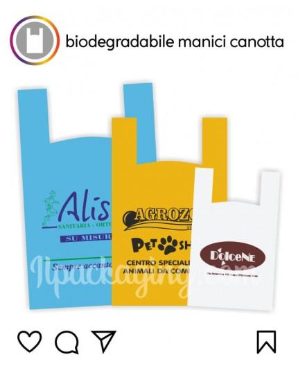 Sacchetti Biodegradabili Personalizzati Manici Canotta 100Kg