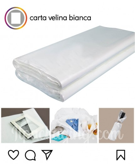 Carta Velina Bianca in fogli 78x100 cm