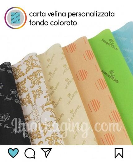 Carta Velina Personalizzata Fondo Colorato 100kg