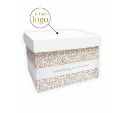 scatola porta panettone bianca