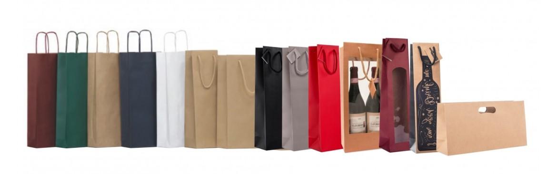 Buste, Shoppers, Sacchetti per Enoteche. Porta Bottiglie