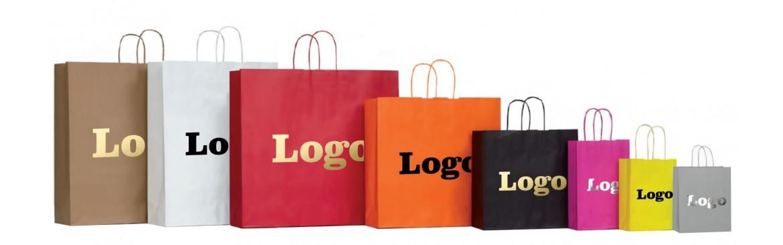 Buste, Shoppers, Sacchetti personalizzati con manici cordino