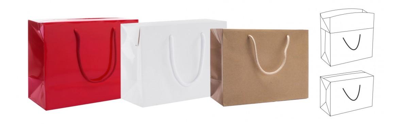 Buste Bag Box, Shoppers a borsa, Sacchetti Eleganti a bauletto.